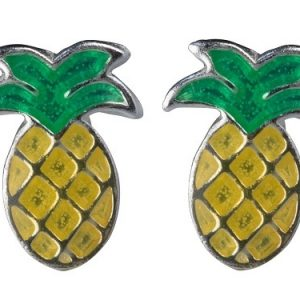 pineapple sts earrings studs